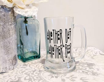 Another Day Another Beer // Larry the Enticer // Funny Beer Glass // Funny Sayings // Beer Glass //