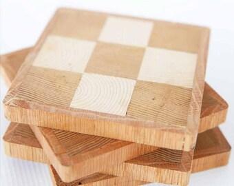 Checkerboard Coasters
