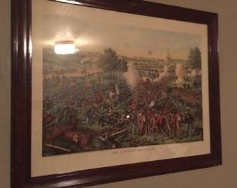 Battle of gettybirv early print