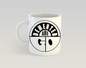Demented Are Go 11oz Coffee Mug Psychobilly The Meteors Guana Batz Batmobile Nekromantix Tiger Army Quakes Mad Sin Frantic Flintstones