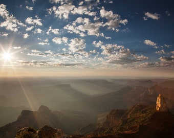 Photograph of the Grand Canyon from Cape Royal on the North Rim, printed on metal and ready to hang