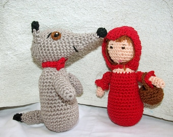 Little Red Riding Hood and Wolf dolls set