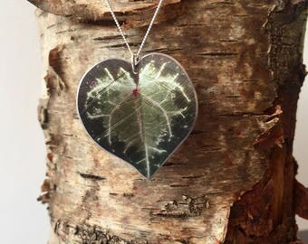 Cyclamen Leaf Necklace