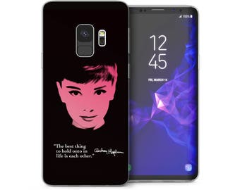 Samsung Galaxy S9 Case, Audrey Hepburn Best Celebrity Quote Gel Cover