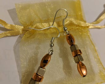 Bronze & Gold Earrings