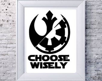 Choose Wisely Star Wars Wall Decor