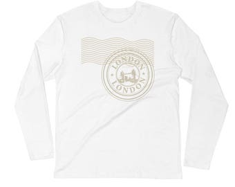 London Stamp Long Sleeve Fitted Crew