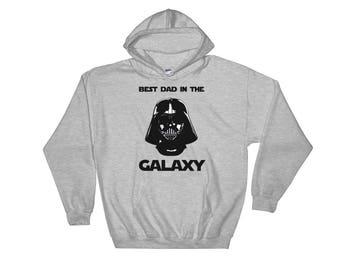 "Star Wars Hoodie ""Best Dad In The Galaxy"" Dad Gifts From Son Dad Gifts From Daughter | Star Wars Gift Ideas | Dad Gift Ideas"