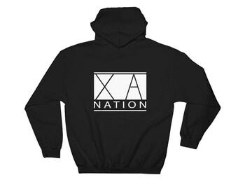 XA NATION Hoodie Back Design - BLACK
