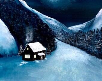 Snowed-in Cabin