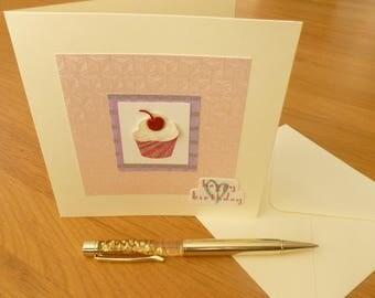 Cupcake Birthday Greetings Card