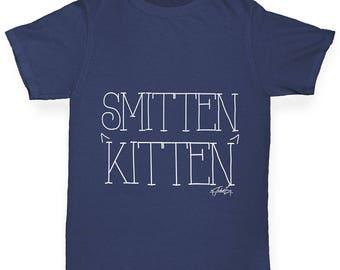 Boys Funny T Shirt Smitten Kitten Boy's T-Shirt