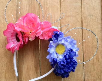 Sleeping Beauty Inspired Floral Mouse Ears