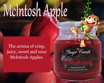 McIntosh Apple Scented Jar Candle (16 oz.)!