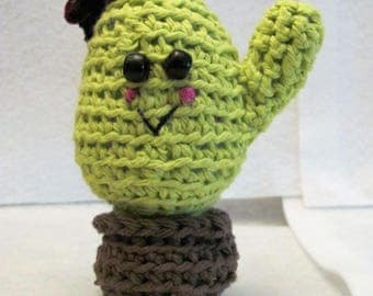 Handmade Amigurumi Cactus with Bow