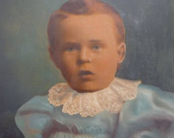 Two Antique Paintings of Children