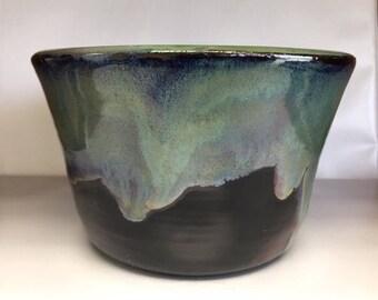 Green Ceramic Planter, Medium Succulent Planter, Small Herb Planter,  Handmade Planter, Flower Pot, Pottery Planter, House gift