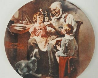 Knowles Norman Rockwell, The Toy Maker plate