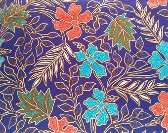 Hand Painted Indonesian Batik Silky Fabric