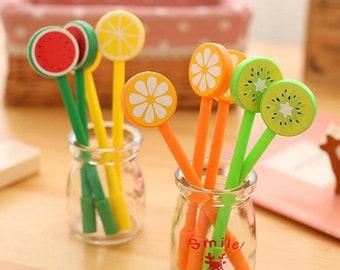 Novelty Fruit Gel Pens