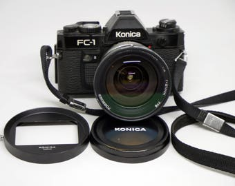 Konica FC-1 and Konica Hexanon AR 21mm F4 wide angle lens