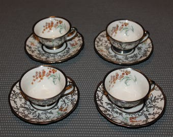Mitterteich Demitasse Cups and Saucers - Set of 4