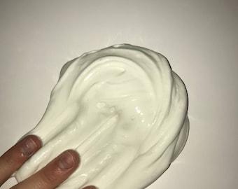 4oz White Butter Slime