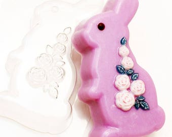 Soap mold, Icetray, Form for chocolate, Clean, the Rabbit, Flowers