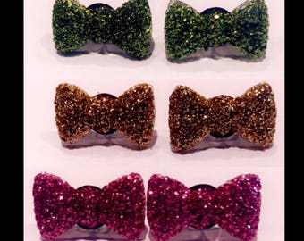 Bow sparkly earrings