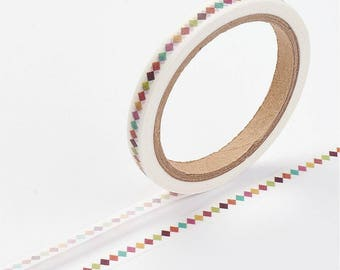 Diamond Pattern Washi Tape - 5mm x 7 Meters - #SW117