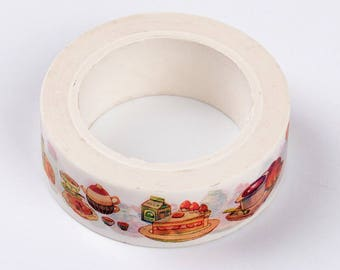 Food Washi Tape - 15mm x 10 Meters - #SW126