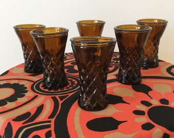 Vintage shot glass set from 1970 / 1960's
