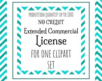 Extended Commercial License NO CREDIT REQUIRED (production quantity up to 1000)