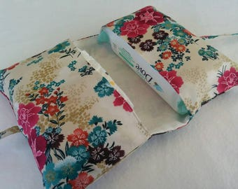 Floral Nappy & Wipes Holder