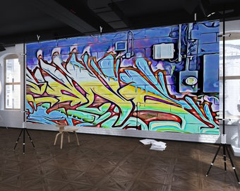 GM 21 - Streets To Canvas - Custom Graffiti Name Sign, Graffiti Art Canvas Print, Personalized Canvas Wall Art, Abstract Graffiti Canvas
