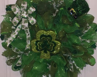 Deco Mesh St Patrick's Day Wreath