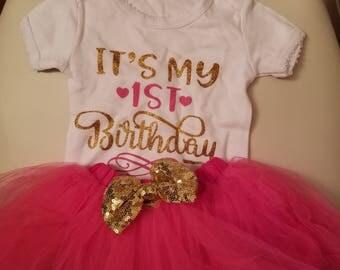 1st birthday 4pc tutu set