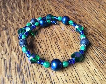 Seahawks colors! Diffuser bracelet