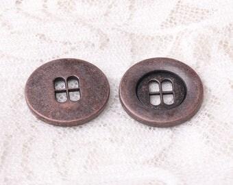 4 holes 18mm button 10pcs copper button round shirt button garment accessories