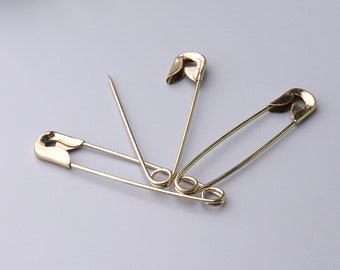 20pcs 50*10mm gold safety pins iron safety pins brooch pins bar pins decorative pins for hats clothes
