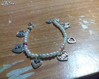 Hearts Charm Bracelet