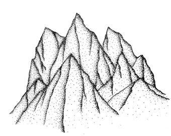 Mountain Print A5