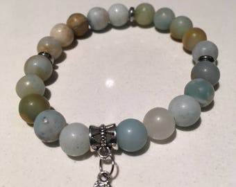 Matte amazonite stone bracelet