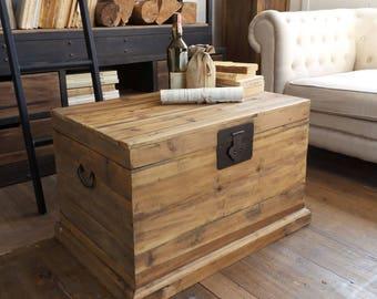 Vintage Natural Wood Trunk