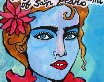 Madonna signed canvas print 20x20in
