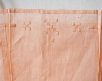 Vintage top, underwear, cotton,embroideries,  pink