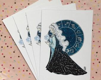 Zodiac Witch • inktober 2017 prints