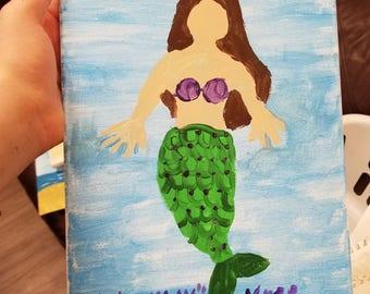 Faceless mermaid