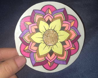Mandala Sticker Glitter-Infused