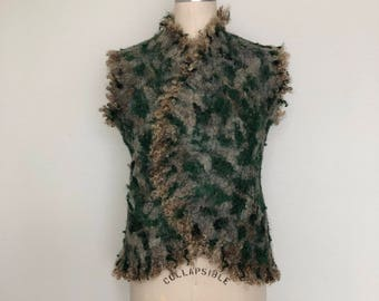 Wool Nuno Felted Vest for Women
